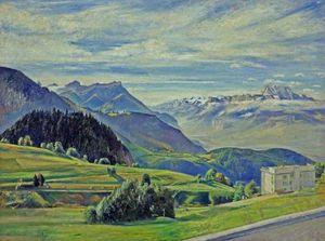 Le Dent Du Midi From Leysin, Switzerland
