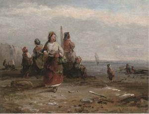 Fisherfolk Along The Shore