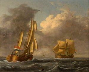Dutch Galliots Off The Coast