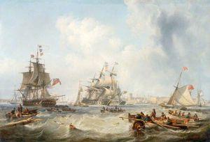 Men-of-war Off Portsmouth Harbour