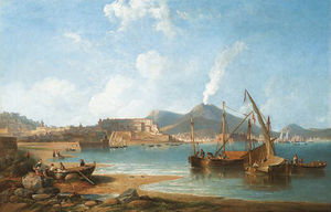 The Bay Of Naples With Vesuvius Beyond