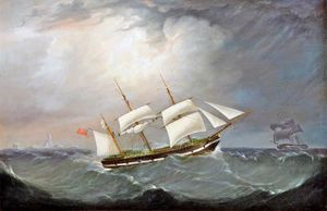 The Barque 'charles Eyes', Captain Moss Off An Iceberg
