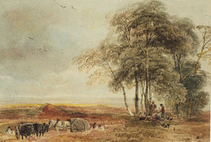 Men Working On The Lincolnshire Heathland