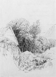 Two Studies Of A Watermill