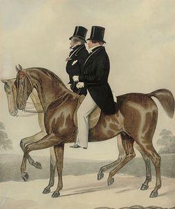 乔治四世伯爵凭借奥赛出去兜风,在巴斯