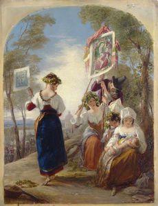 Neapolitan Peasants At The Festa Of The Madonna Del Arco