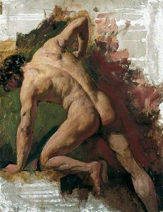 Male Nude Sawing