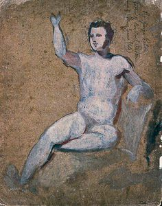 Male Nude With Right Arm Raised
