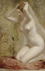 Nude Woman Kneeling -