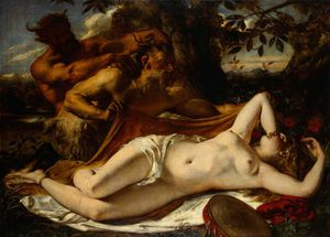 Sleeping Nymphs And Satyrs