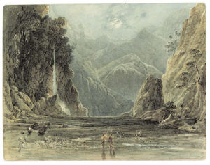 A Waterfall In The East Indies