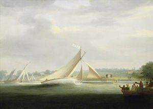 Yachts Of The Cumberland Society Racing On The Thames -