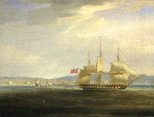 Hms 'mercury' Cuts Out The French Gunboat 'leda' From Rovigno