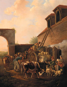 Peasants Loading Hay