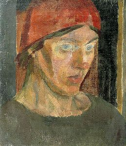 Vanessa Bell in a Red Headscarf