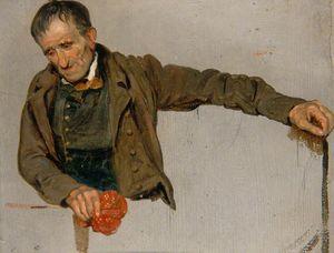 Man Gripping A Handkerchief