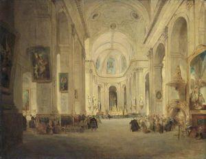Interior Of St Sulpice, Paris