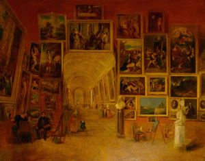 Main Gallery Of The Louvre, Paris