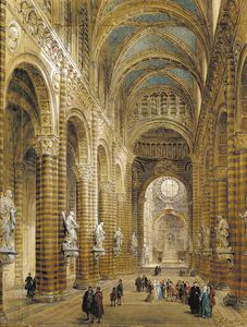 Interior Of The Cathedral At Sienna