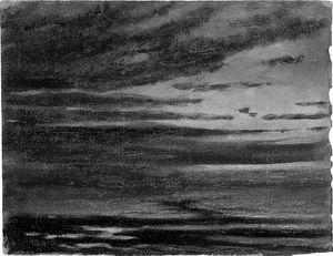 A Seascape At Twilight