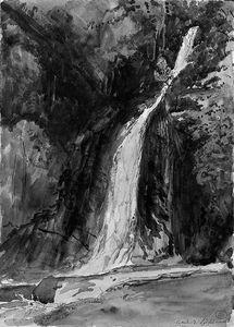 A Waterfall At Lydford, Cornwall