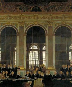 The Signing Of Peace In The Hall Of Mirrors, Versailles