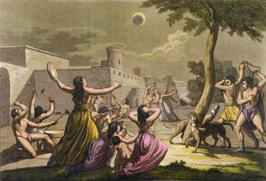 Terror Of The Peruvians During An Eclipse Of The Moon