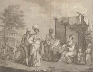 The Linen Market, At St Domingo, By Brown