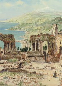 Ruins Of The Theatre At Taormina, Sicily