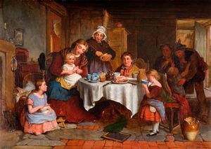 Saying Grace, Cottage Interior