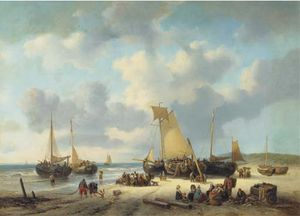 Daily Activities On A Sunlit Beach