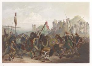 Bison Dance Of The Mandan Indians In Front Of Their Medicine Lodge
