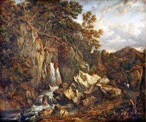 A Waterfall In Glen Shira Near Inveraray