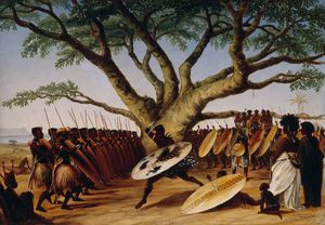 War Dance Under A Fig Tree By Zulus