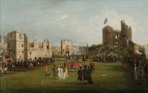 Parade Of The Loyal Association In Dudley Castle Courtyard