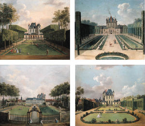 Views Of The Chateau De Mousseaux And Its Gardens