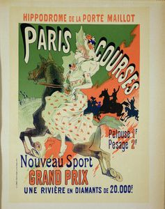 Reproduction Of A Poster Advertising Paris