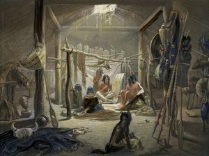The Interior Of A Hut Of A Mandan Chief