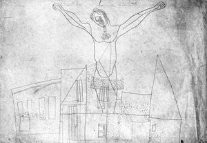 Crucifix Above The Houses