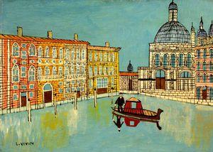 Venice - Canal Scene With A Church