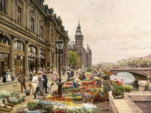 Flower Stands At His In Paris