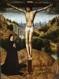 Christ On The Cross With A Donor