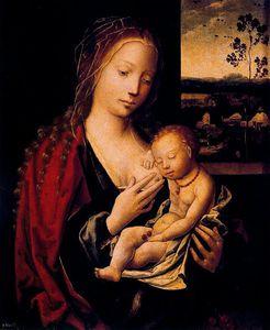 La Virgen Dando El Pecho Al Niño Jesus