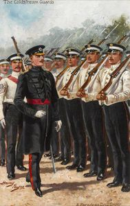 The Coldstream Guards, A Parade In Drill Order