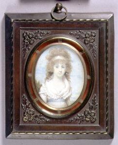 Portrait Miniature Of Anna Maria Blunt, C.1795