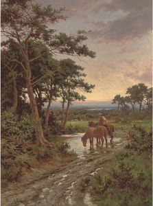 Watering The Horses, Sunset