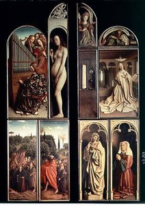 Right Panel, Interior And Exterior Of The Ghent Altarpiece