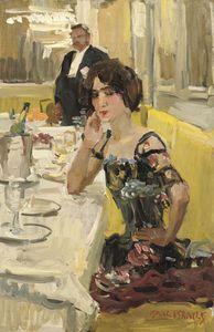 A Table Au Restaurant Le Perroquet