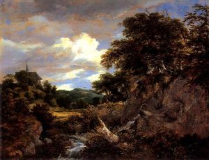 Hill Landscape With Chapel