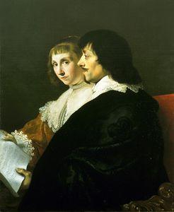 Double Portrait Of Constantijn Huygens